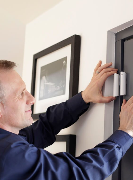 installation of home alarm sensors