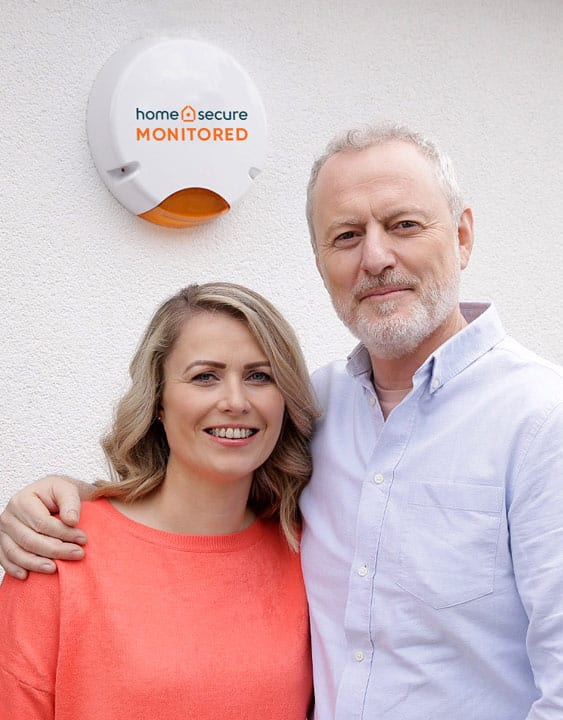 couple at home monitored alarm