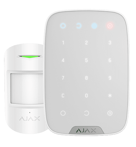 alarm system keypad and sensor