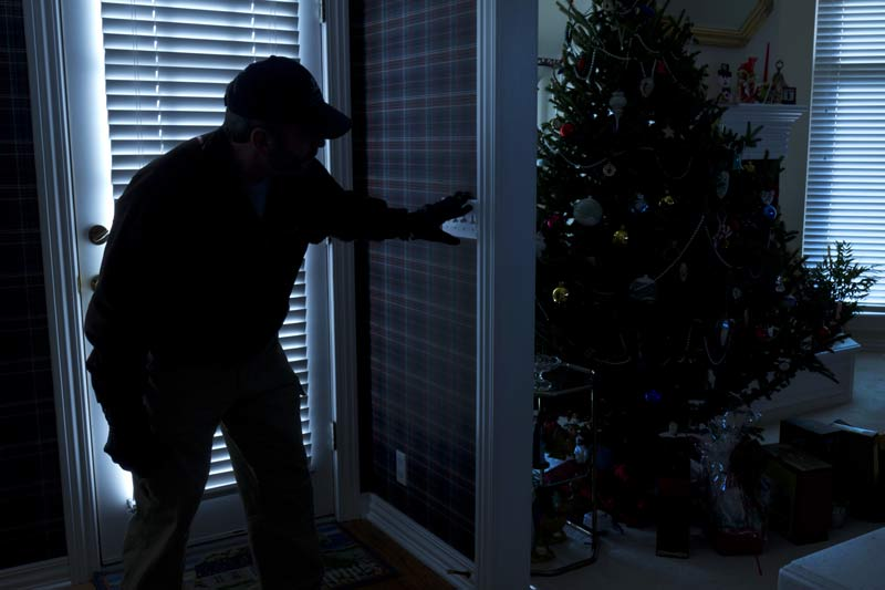 intruder in home at christmas