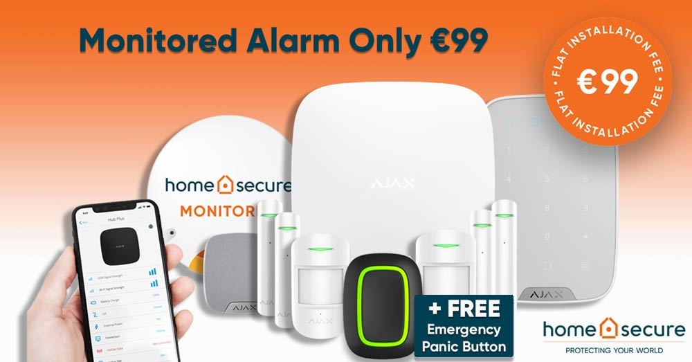 monitored alarm system pack
